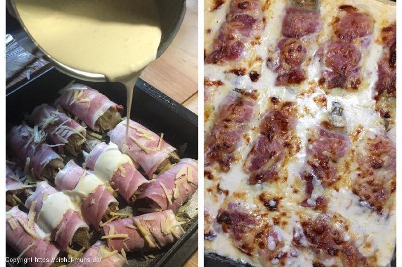 Chicorée mit Kochschinken gratiniert